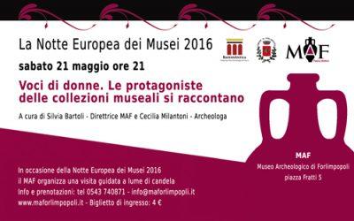 La Notte Europea dei Musei 2016