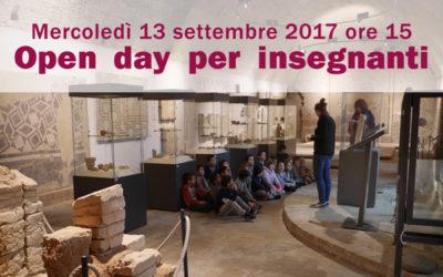 Open day per insegnanti – 13 settembre 2017