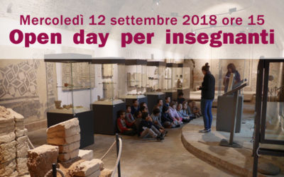 Open day per insegnanti – 12 settembre 2018
