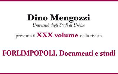 """Presentazione del XXX volume """"Forlimpopoli Documenti e Studi"""""""